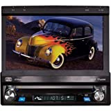 """BOSS Audio BV9976B Car DVD Player – Single Din, Bluetooth Audio & Hands-Free Calling, Built-in Microphone, CD/MP3/USB/SD Aux-in, AM/FM Radio Receiver, 7"""" Digital LCD Display, Multi-color Illumination"""