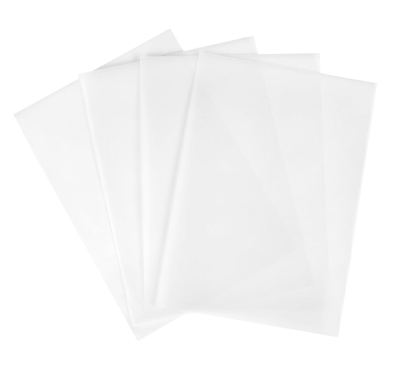 100 Blatt Transparentpapier klar DIN A4 weiß bedruckbar: Amazon.de ...