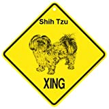 KC Creations Shih Tzu Puuppy Cut Xing Caution Crossing Sign Dog Gift