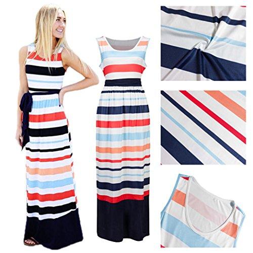 Medio Partito Da Multicolore Haoricu Di Delle Vestito Donne Moda df0W5wfqa