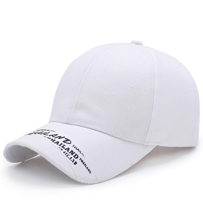 Llxln Gorra De Béisbol De Algodón Casual Hat para Mujeres Hombres Casquette Golf  Deportes Al Aire Libre En Verano Caps Sun Hat Snapback Gorras Blanco Hueso   ... f3edb6a2728