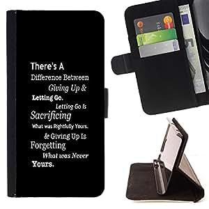BullDog Case - FOR/Sony Xperia Z1 Compact D5503 / - / inspiring black message white text smart /- Monedero de cuero de la PU Llevar cubierta de la caja con el ID Credit Card Slots Flip funda de cuer