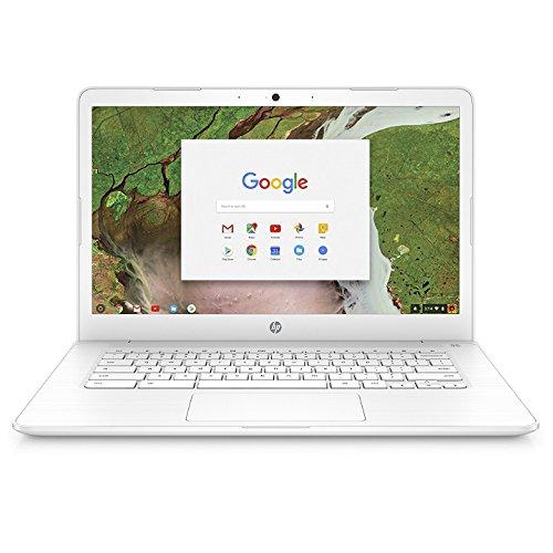 HP Chromebook 14-inch Laptop with 180-degree Hinge, Intel Celeron N3350 Processor, 4 GB RAM, 32 GB eMMC Storage, Chrome OS (14-ca060nr, White)