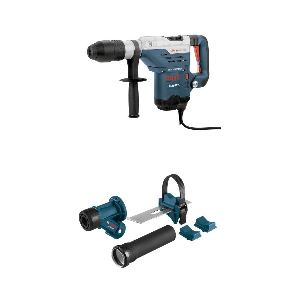 Bosch 11264EVS 1-5/8 SDS-Max Combination Hammer with HDC300 SDS-Max and Spline Hammer Dust Collection Attachment