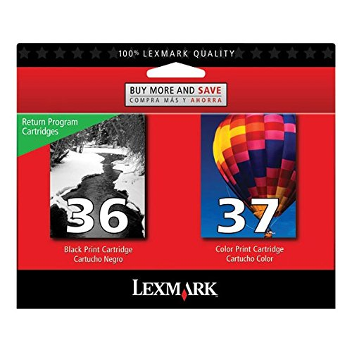 Lexmark #36/#37 X3500/X3600/X4600/X5650/X6650/X6675 Black/Color Return Program Ink Professional Sell Only ONE (Return Program Colour)