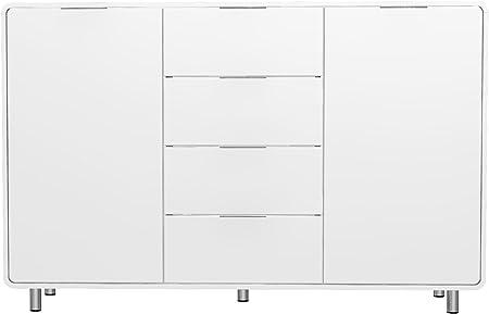 Tenzo 8436 001 Step Buffet Blanc Design En Panneau Mdf