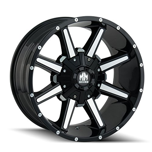 Used, Mayhem ARSENAL Gloss Black/Machined Face Wheel with for sale  Delivered anywhere in USA