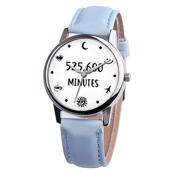 Chengzhijianzhu_ - Reloj de Pulsera para Mujer, de Cuarzo, Unisex, con Correa de