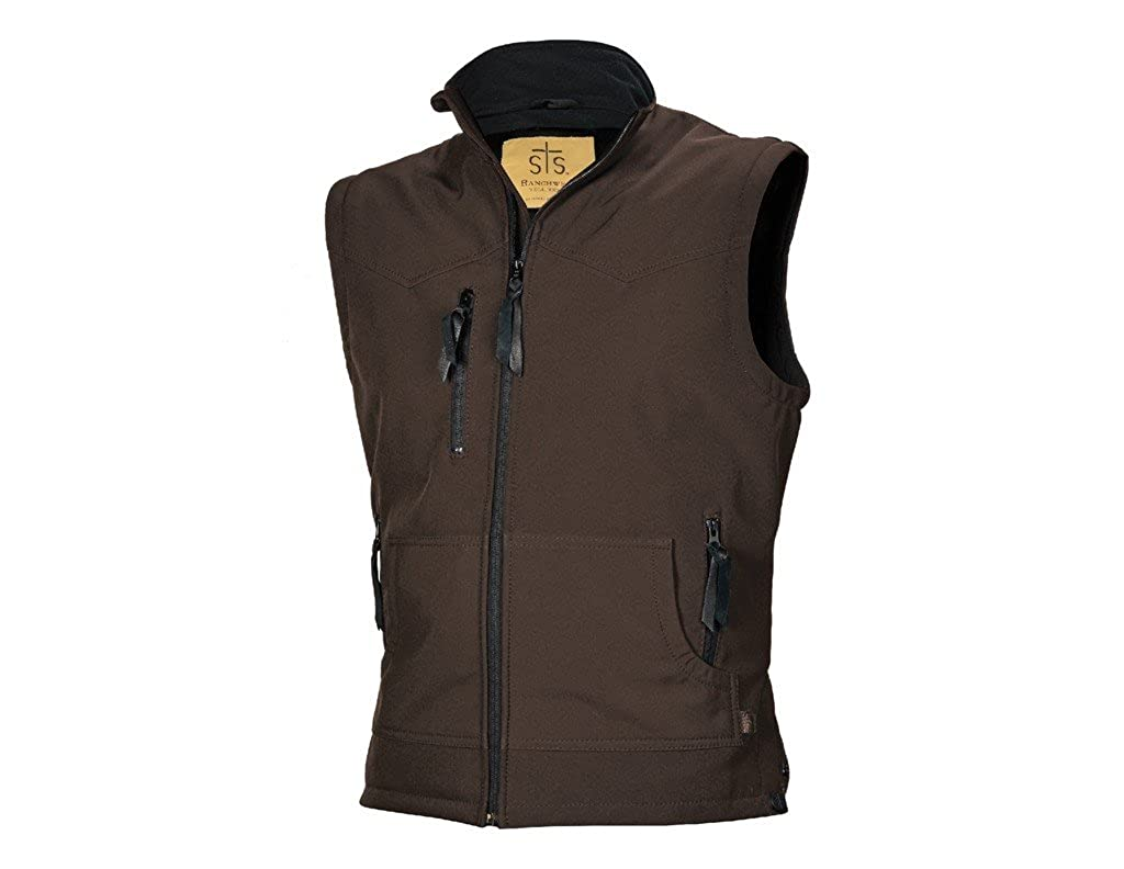 Sts Ranch Wear Mens STS Ranchwear Barrier Brown Vest STS3443