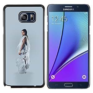 Eason Shop / Premium SLIM PC / Aliminium Casa Carcasa Funda Case Bandera Cover - Fashion Black Woman Art - For Samsung Galaxy Note 5