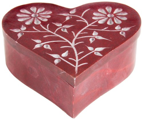 Berk - Inner Worlds Incense Cone-Box Heart with Storage Compartment, Red