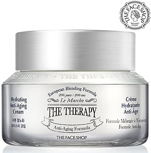 [THEFACESHOP] Anti Aging Cream with Hydration, [The Therapy] Anti Wrinkle Facial Moisturizer with Premium European Natural Botanical Ingredients - Handmade Formula from - 1.69 Ounces