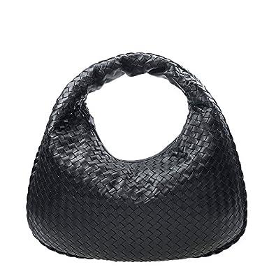 5fafd1b42550 NEW BOTTEGA VENETA HANDBAG 367637 V0016 8175 LAMBSKIN BLACK Shoulder Bag   Amazon.co.uk  Shoes   Bags