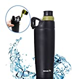 Vacuum-Insulated Mug,Leak Proof Twist Cap,Japanese Designed,Sealed Keeps Drinks Cold & HOT,Stainless Steel Water Bottle,Marbrasse 12OZ Dual Opening Coffee Tumbler ,Perfect for Camping,Cycling,Gym