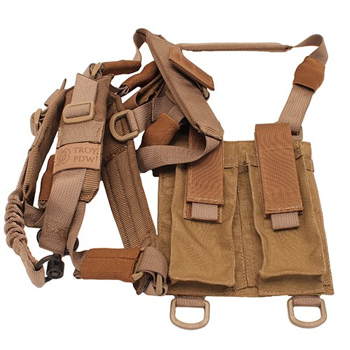 Troy Industries SSLI-PSH-00TT-00 Pdw Shoulder Harness Sling, Tan by Troy Industries