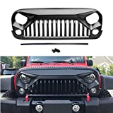 #5: Topfire Upgraded Front Matte Grill for Jeep Wrangler Rubicon Sahara Sport JK 2007-2018 (Black)