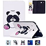 Galaxy T377v/T377a Case,Tab E 8.0'' Case,UUcovers Ultra Slim [Fancy Pattern] PU Leather Flip Stand Case Protective Cover for Galaxy Tab E 8.0 Inch SM-T375/T377a/v/p Tablet,Pink Panda