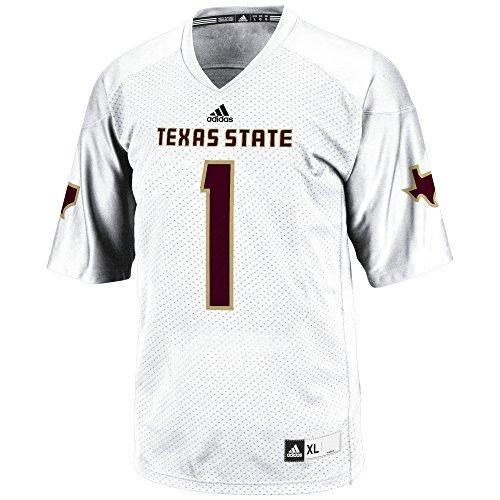 NCAA Texas State Bobcats Men's 3-Stripe Football Jersey, X-Large, White