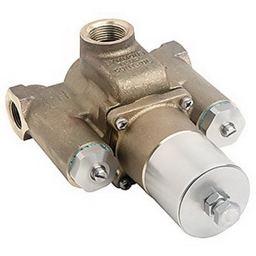 SYMMONS INDUSTRIES 7-500 Tempcontrol Thermostatic Mix Valve, Rough Brass, 1-1/4