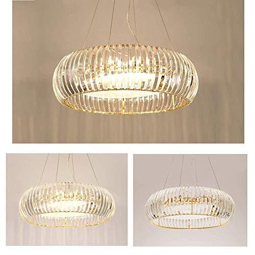 XQY Decorative Chandelier-Crystal Chandelier Ceiling Light, Modern Led Hanging Lamp Hanging Lights Round Loft Living Room Bedroom Creative Pendant Lights Indoor Suspension Chandelier, 55Cm [Energy Cl