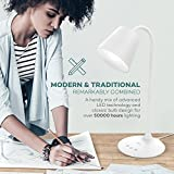 VAVA Desk Lamp, LED Table Lamp for Office Home Lighting, 3 Color Modes with Gradual Dimming, Timer, 180 Degree Bendable Gooseneck, Durable Silicone Arm
