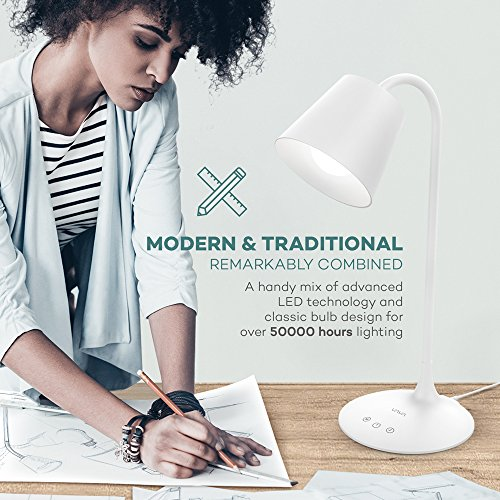 VAVA VA-DL29 LED Desk Lamp for Office Home Lighting, 3 Color Modes with Gradual Dimming, 1 Hour Timer Touch Control, Memory Function, Official Member of Philips Enabled Licensing Program by VAVA (Image #1)