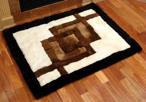 SoftRugs Interlocking Squares Design 4-Feet