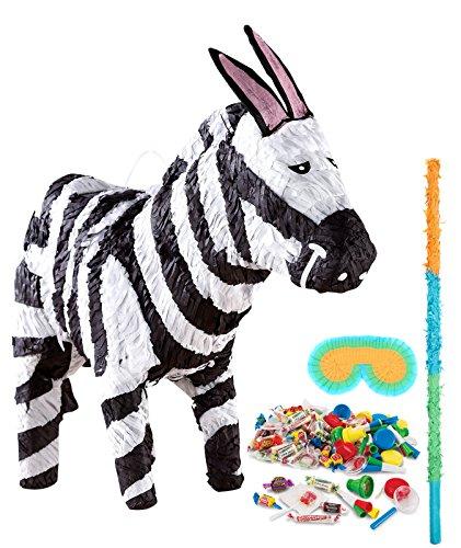 (BirthdayExpress Jungle Party Supplies - Zebra Pinata)