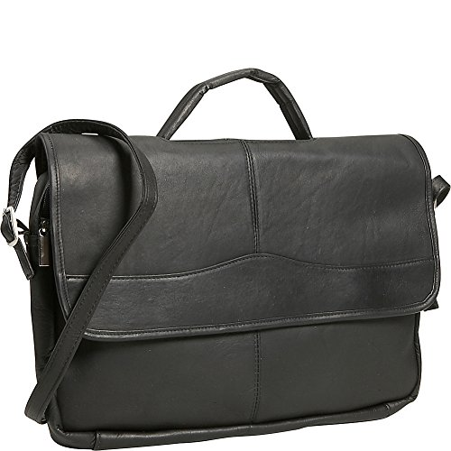 David King & Co. Porthole Briefcase Simple, Black, One Size ()