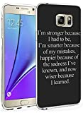 N5 Protective Cover Slim Fit Bumper Case for Samsung Galaxy Note 5 Inspirational Quote