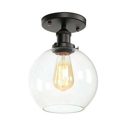 HNYD Retro Vintage Lámpara de Techo,Industrial Luz de Techo ...