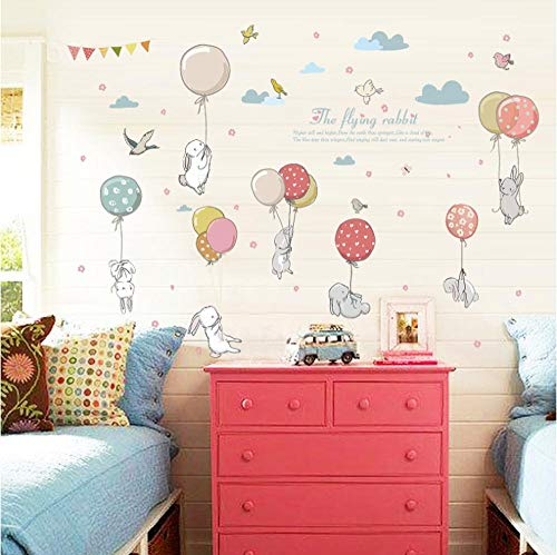 Fat Rabbit Halloween Stickers (Wall Stickers, Christmas Stickers,Cute Balloon Rabbit Cartoon PVC Wall Stickers DIY Children Wall Art Bedroom Home)
