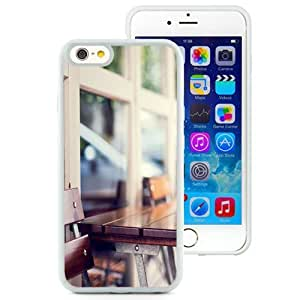 NEW Unique Custom Designed iPhone 6 4.7 Inch TPU Phone Case With Urban Wooden Coffee Table_White Phone Case wangjiang maoyi