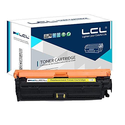 LCL Compatible for HP 307A CE742A (1-Pack Yellow) Toner Cartridge for HP Color Laserjet CP5225 CP5225n CP5225dn