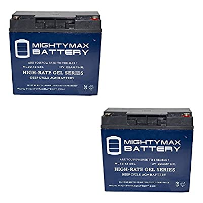 12V 22AH GEL Battery for Rescue Pack 1800 Jump Starter - 2 Pack - Mighty Max Battery brand product