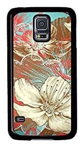 Illustration Flower PC Black Hard Case Cover Skin For Samsung Galaxy S5 I9600