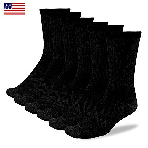 PEOPLE SOCKS merino wool 6 pairs Solid Black crew hits at below calf lightweight medium large