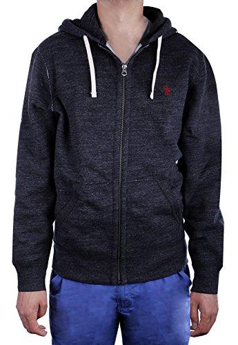 Polo Ralph Lauren Classic Full-Zip Fleece Hooded Sweatshirt, BLACK HEATHER (M) (Ralph Lauren Fleece Mens)