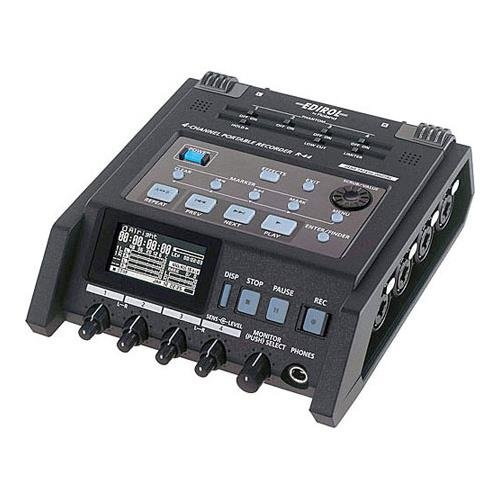 Roland R-44 Solid State 4 Channel Portable Field (Roland Digital Microphone)
