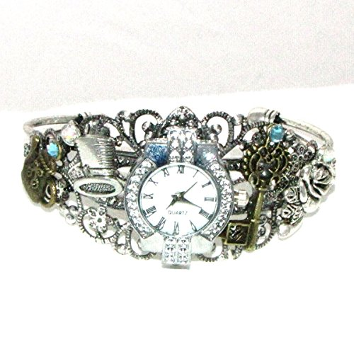 Through the Looking Glass Wrist watch Cuff Bracelet Alice in Wonderland (Alice In Wonderland Shop)