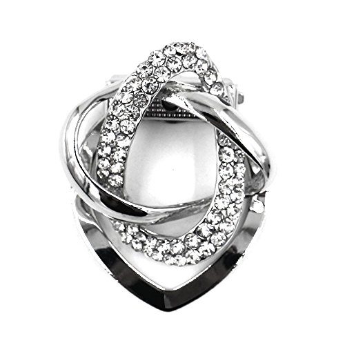 Estony Dual Purpose Scarf Buckle Brooch Clips Pin For Women (Imitation Platinum) (Corsage Ring Platinum Ring)
