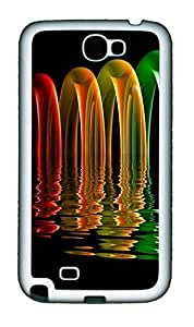 Samsung Galaxy Note II N7100 Cases & Covers - Rainbow Custom TPU Soft Case Cover Protector for Samsung Galaxy Note II N7100 - White