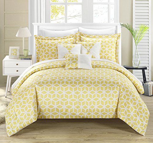 yellow and blue bedding - 4