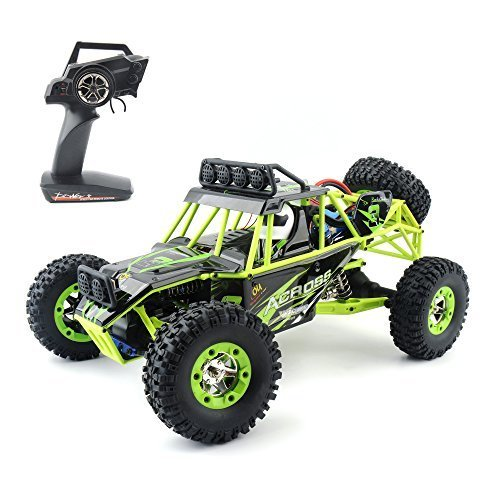 Cars 12428 Hobby Level High Speed Fast Race Cars Monster Truck 35mph Four-Wheel Drive Rock Crawler Electric Remote Control Off-Road Vehicle ()