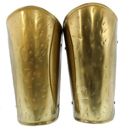 [RedSkyTrader Mens Brass Medieval Spartan Arm Guards One Size Fits Most Brass] (Spartan Princess Costumes)