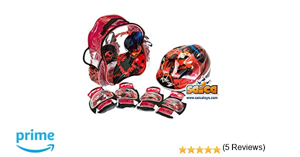 Saica Ladybug Mochila, Rojo y Negro