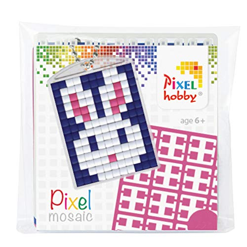 Pracht Creatives Hobby P23010 Pixel Set Medallion Rabbit Key Ring Pendant for Children Boys and Girls Ideal as a Small Gift or Party Bag for Children