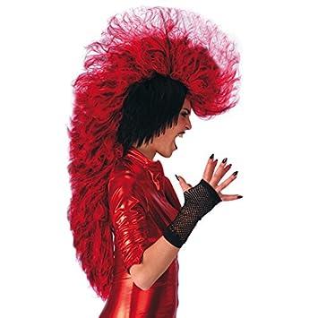 Carnival 2659 - Peluca de cresta, color rojo: Amazon.es: Juguetes y juegos