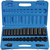 "Grey Pneumatic (1328RD 1/2"" Drive 28-Piece Standard/Deep Socket Set"