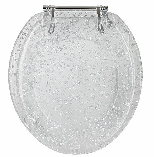 gold glitter toilet seat. Amazon com  Ginsey Standard Deluxe Silver Foil Toilet Seat with Chrome Hinges Home Kitchen